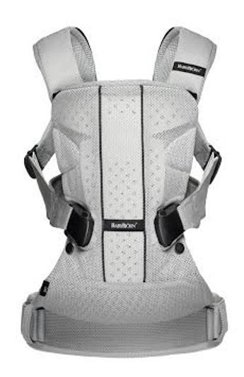 babybjorn baby carrier one silver mesh