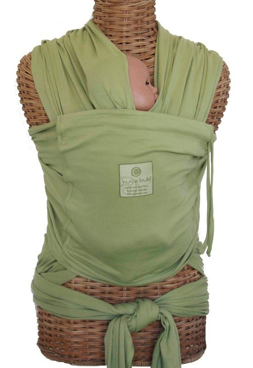 Hug A Bub Organic Pocket Wrap Carrier Pistachio Baby Carriers